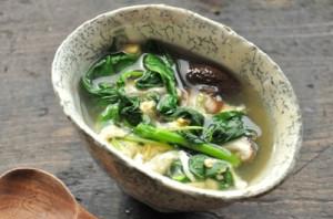 モロヘイヤの卵とじ栄養満点スープ