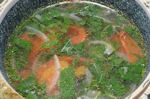 モロヘイヤとトマトの栄養スープ